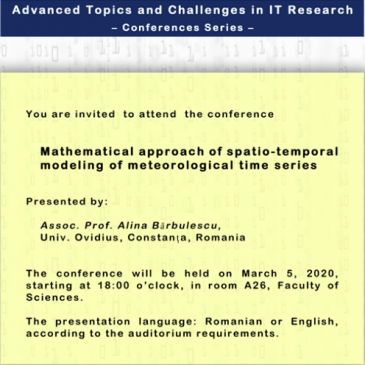 Mathematical approach of spatio-temporal modeling